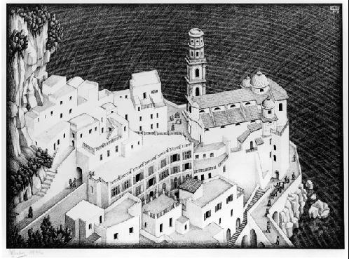 LW148-MC-Escher-Atrani-Coast-of-Amalfi-1931